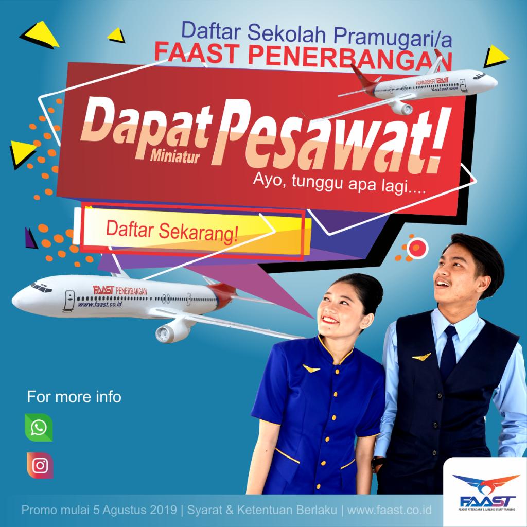 Promo Miniatur Pesawat Sekolah Pramugari