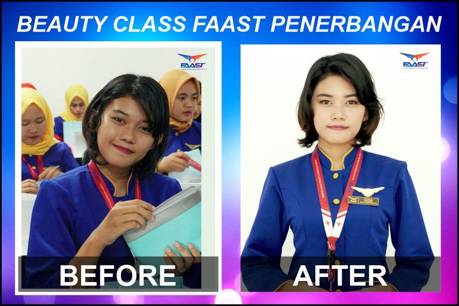 Before After - Beauty Class FAAST Penerbangan Kelas November 2019 2