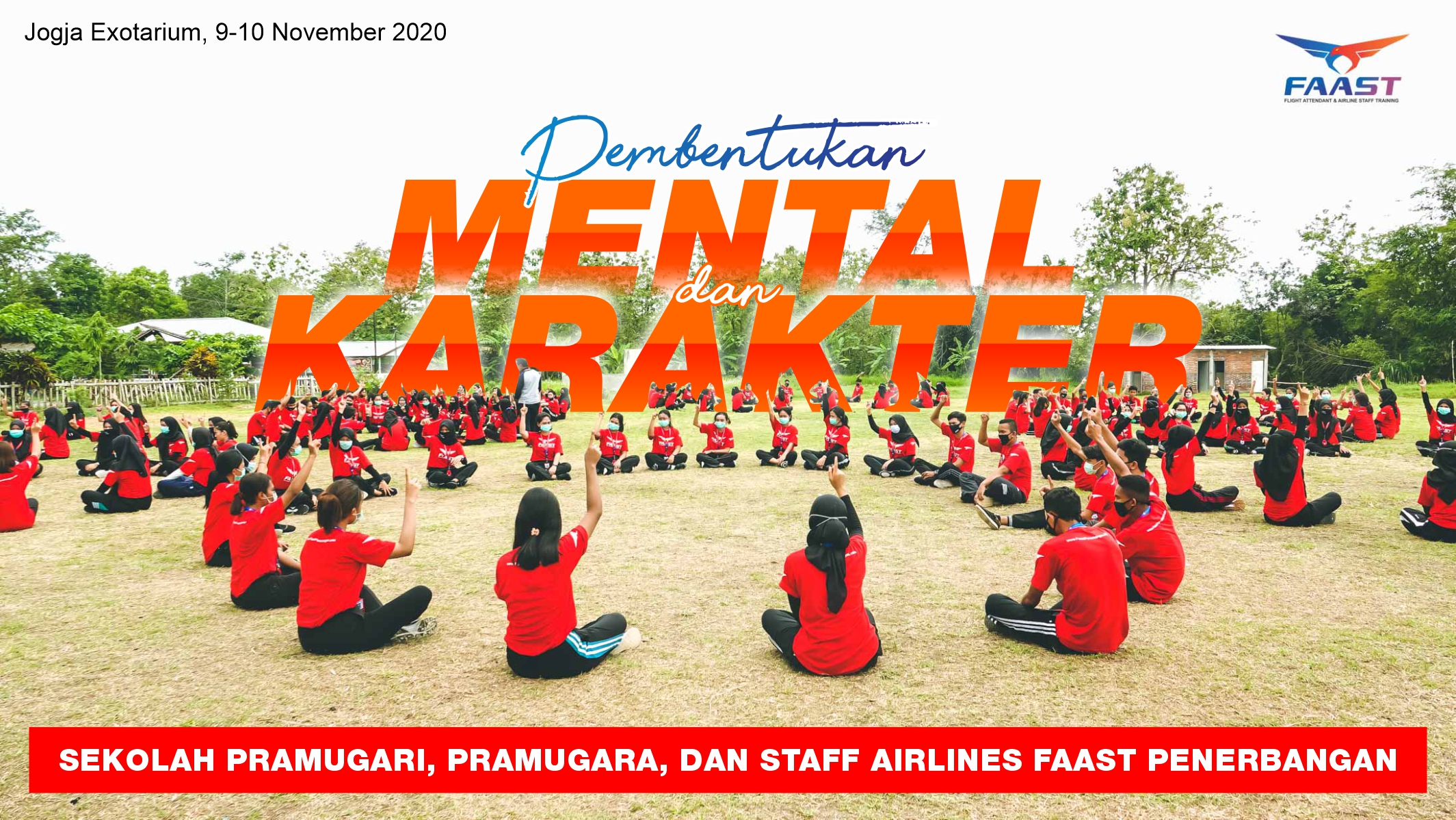 Outbond Sekolah Pramugari, Pramugara, dan Staff Airlines FAAST Penerbangan 2