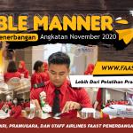 Table Manner Sekolah Pramugari FAAST Penerbangan Angkatan November 2020