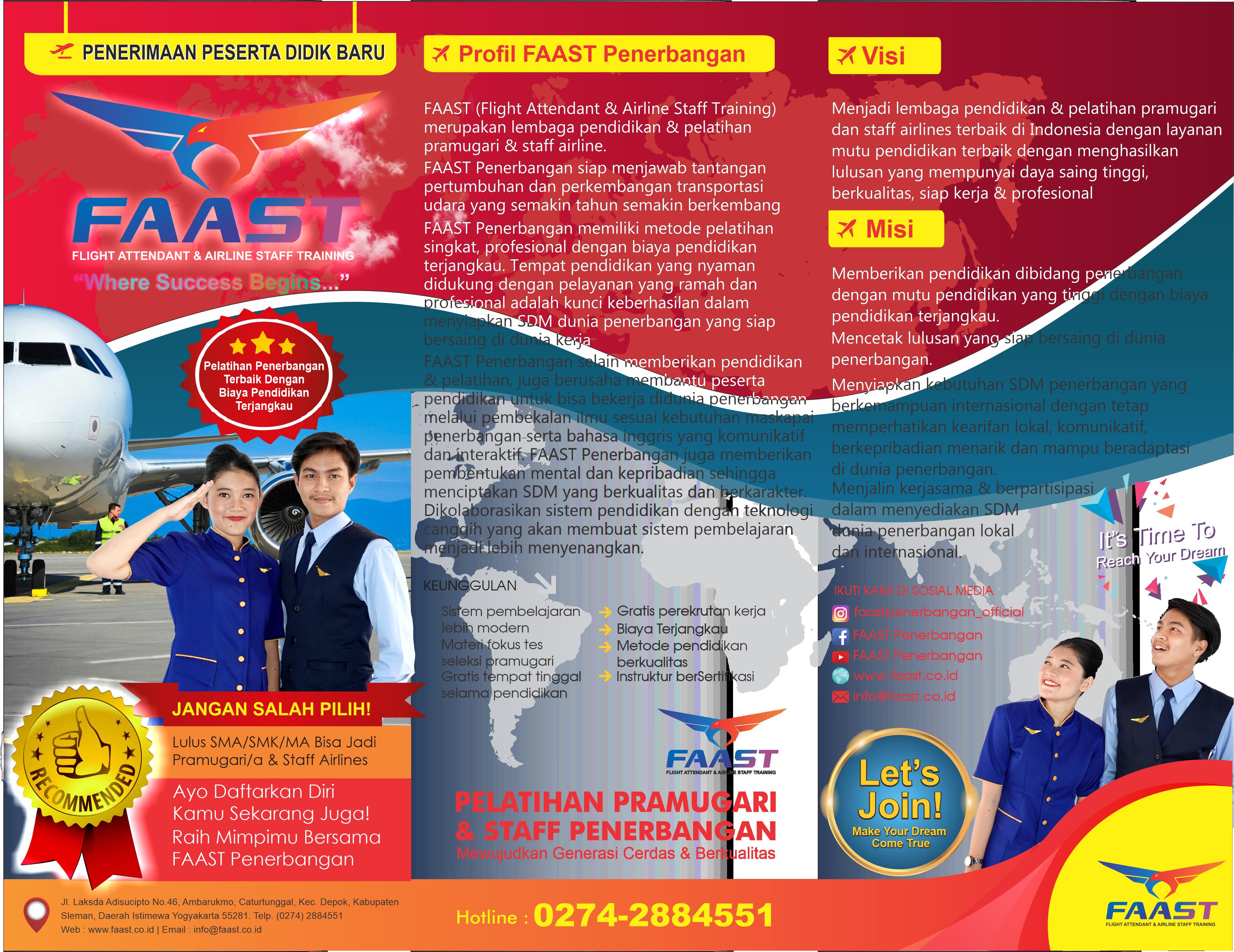 Brosur Sekolah Pramugari Pramugara Faast Penerbangan Download